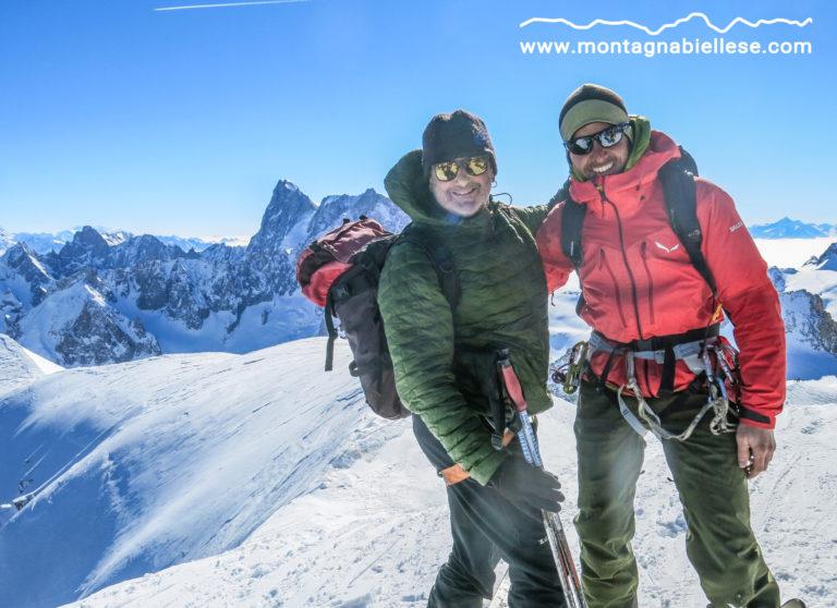 Gianni e Teo in partenza per la Vallée Blanche