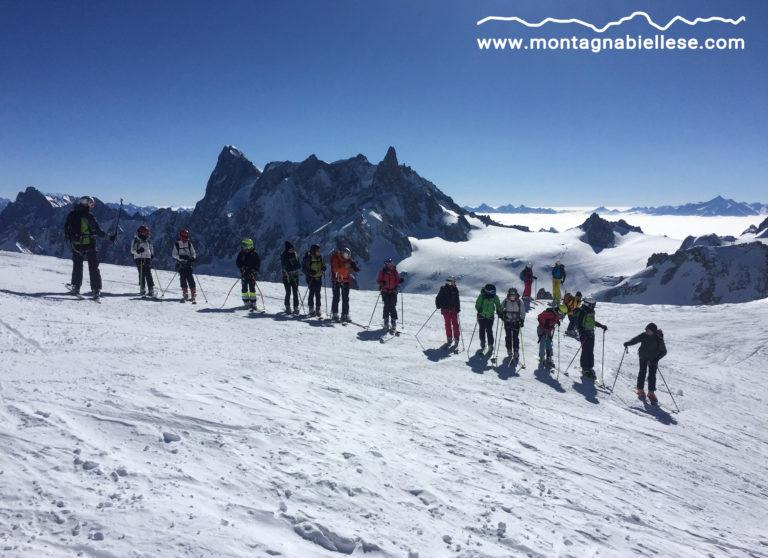 Scialpinismo in Vallée Blanche