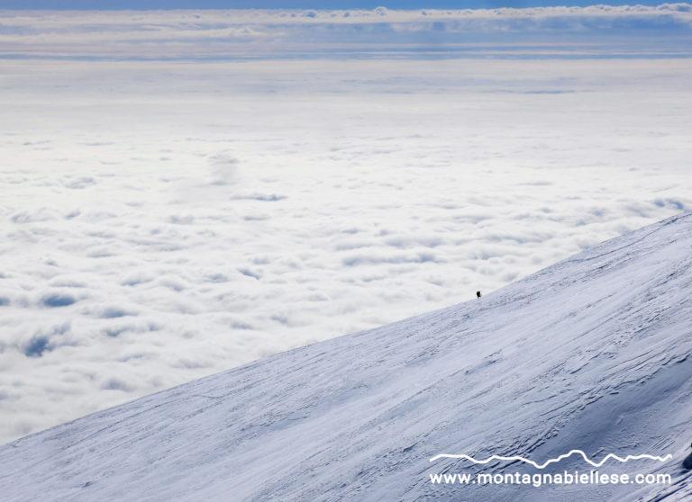 Piccolo scialpinista sulla Muanda